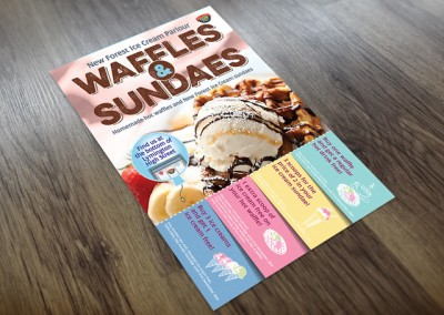 New Forest Ice Cream Parlour Flyer